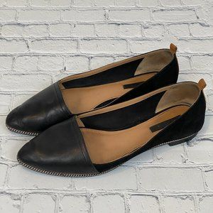 Rachel Zoe Black Leather and Suede Flats Size 8M